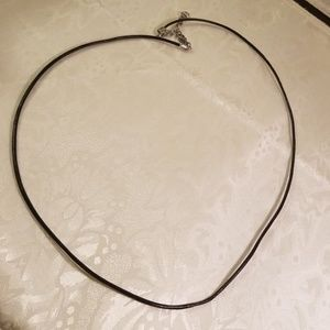Plain leather cord rope